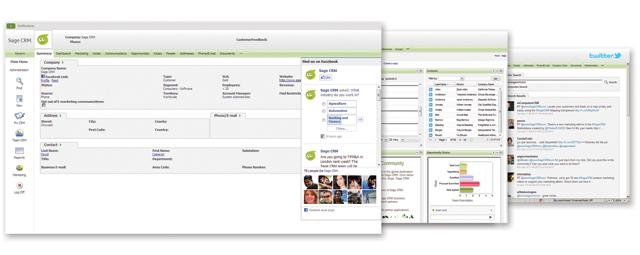 Sagecrm social screenshots