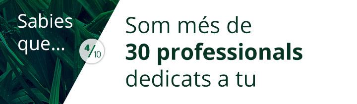 Sabies que mes 30 professionals