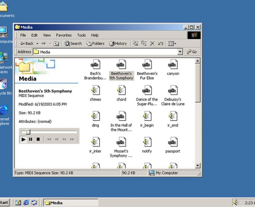 Esta versión, contemporánea con Windows ME, se centró en entornos empresariales y fue diseñado con mejoras de seguridad en archivos.