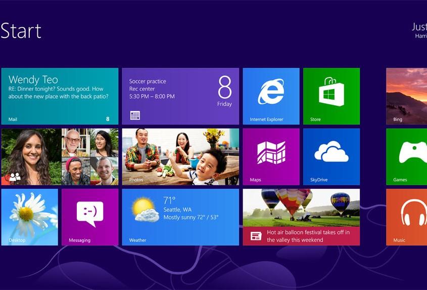 Windows 8 va resultar un canvi estètic radical que volia acostar el sistema operatiu a nous dispositius com tablets o telèfons.