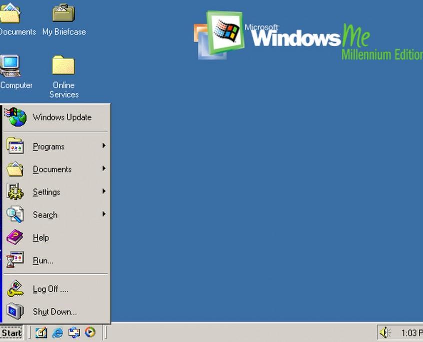 Windows ME se quiso entrar en los aspectos más multimedia pero fue muy problemático. Presentó Windows Movie Maker y mejoró Explorer
