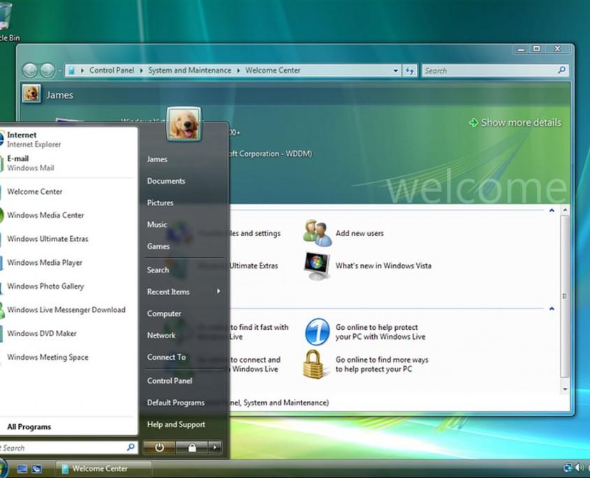 El Windows Vista va ser mal rebut de la mateixa manera que el ME, i presentava una estètica innovadora.