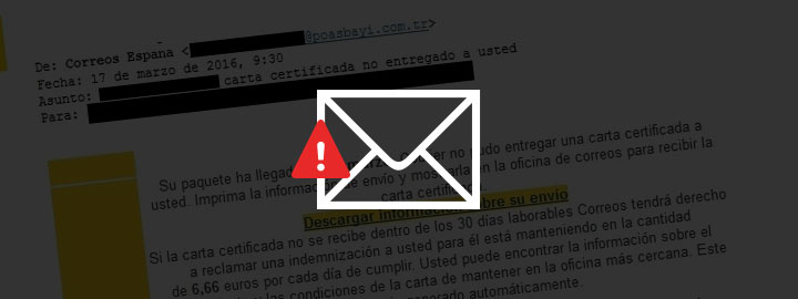 Mail correos virus