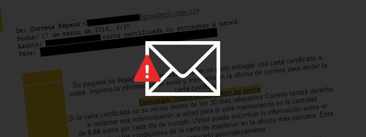 Mail correos virus