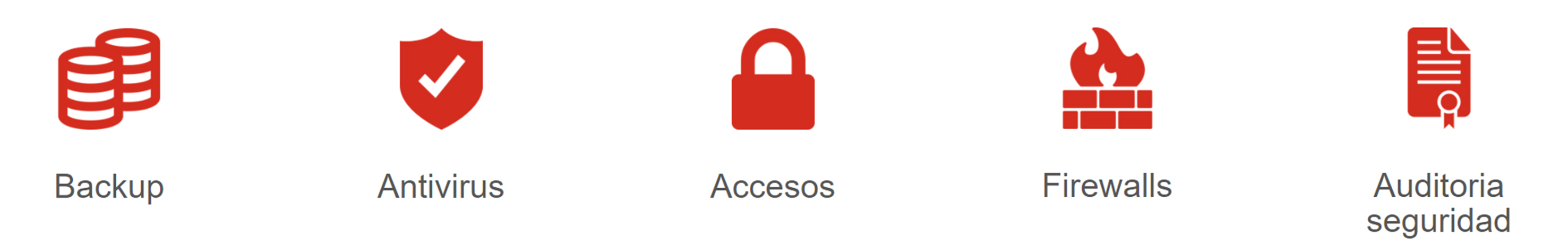 Backup antivitus accesos firewalls auditoria