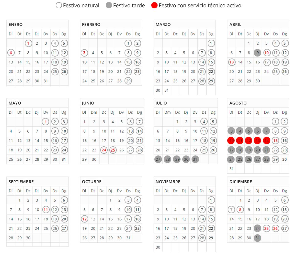 Calendari 2020 es